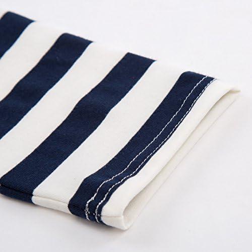 メンズ ボーイズ ティーシャツ トップス 長袖 クルーネック 横縞 Tシャツ 兄弟お揃い 夏春服