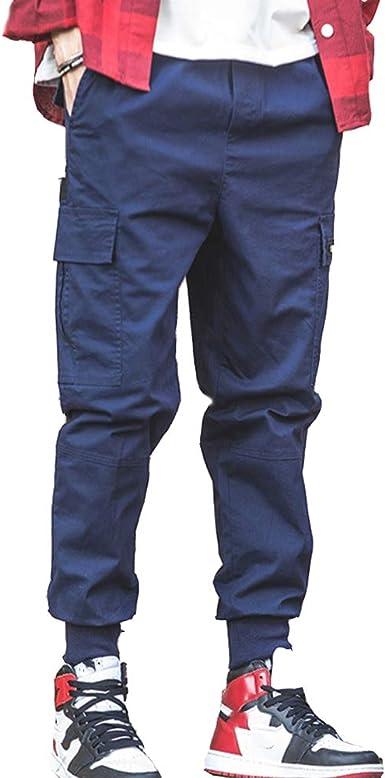 Baronhong Moda Coreana Hombres Streetwear Pantalones Cargo Pantalones Hombres Pantalones Sueltos De Haren Pantalones Deportivos