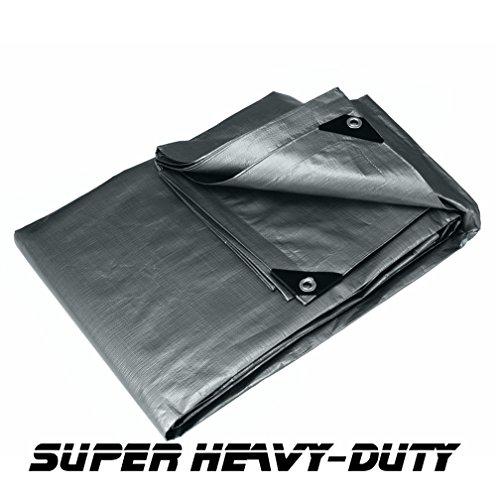 10' X 20' Silver Super Heavy Duty Tarp (9'6'' X 19'6'') by canopiesandtarps