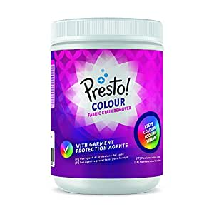 Marca Amazon - Presto! Quitamanchas en polvo para ropa de color, 80 lavados (2 Packs de 40 lavados)