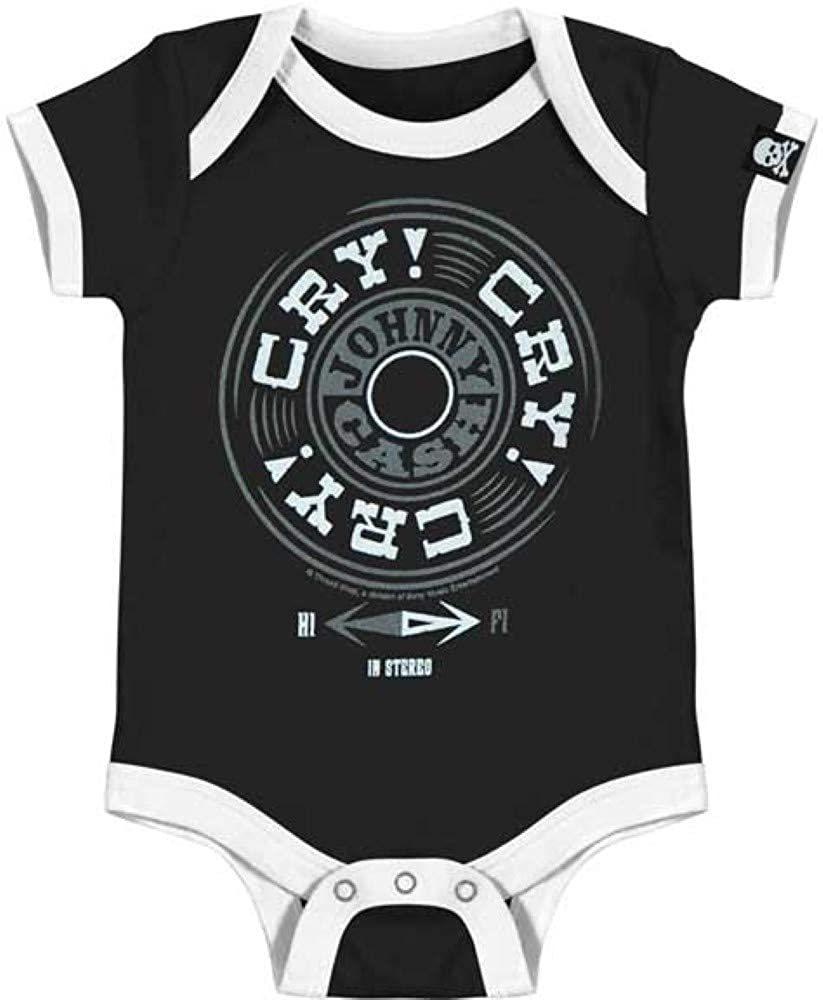 Merch Traffic Johnny Cash Cry Cry Cry Newborn Infant Baby Country Creeper Romper