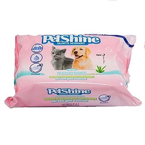 Porrini 11-04225 Toallitas Higiene Perro y Gato, Musgo Blanco y Aloe - 40 Unidades: Amazon.es: Productos para mascotas