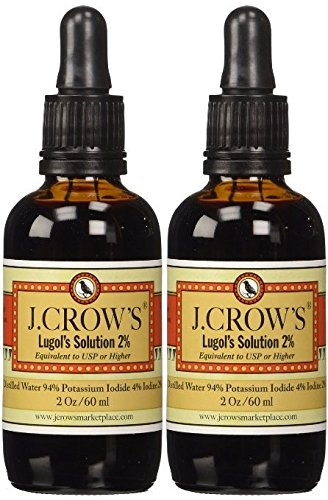 J.Crow's Lugol's Iodine Solution, 2 oz., Twin Pack (2 Bot.) ()