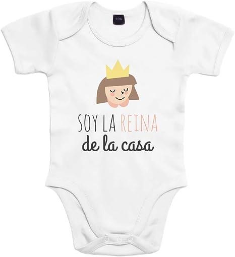 SUPERMOLON Body bebé algodón Soy la reina de la casa 3 meses ...