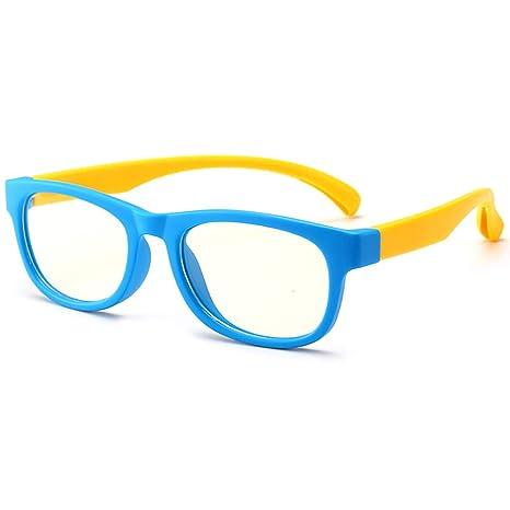 Niños Luz azul Gafas de bloqueo Anti Eyestrain Computadora UV Gafas Lente no recetada edad 3