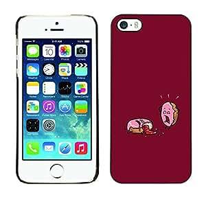 PC/Aluminum Funda Carcasa protectora para Apple Iphone 5 / 5S Funny Motivational Sugar Rush / JUSTGO PHONE PROTECTOR