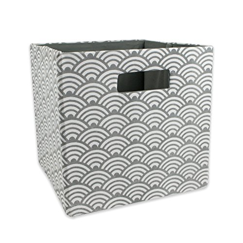 DII Hard Sided Collapsible Fabric Storage Container for Nursery, Offices, & Home Organization