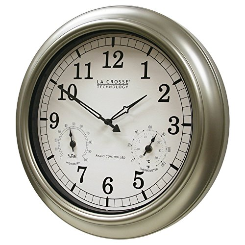La Crosse Technology Wt 3181pl Atomic Outdoor Clock With