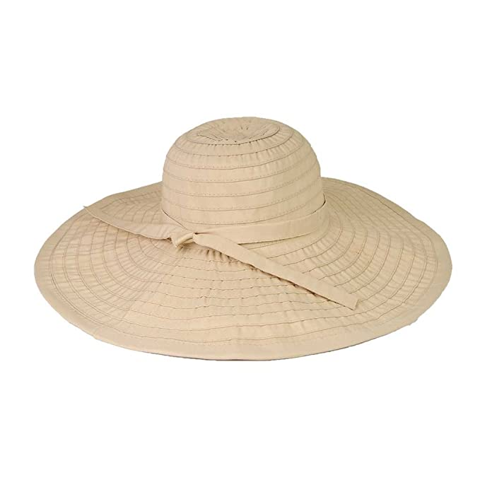 Ribbon Crusher Travel Hat - 5 inch brim - HS358 (Beige) at Amazon Women s  Clothing store  Sun Hats 45b53207d47b
