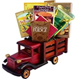 Art of Appreciation Gift Baskets Classic Wood Truck with Gourmet Snacks
