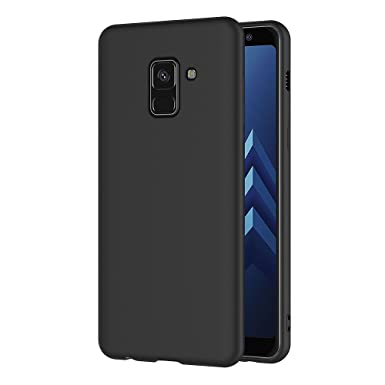 online store ed607 5c5bd AICEK Samsung Galaxy A8 2018 Case, Black Silicone Cover for Samsung A8 2018  Black Case (5.6 inch)