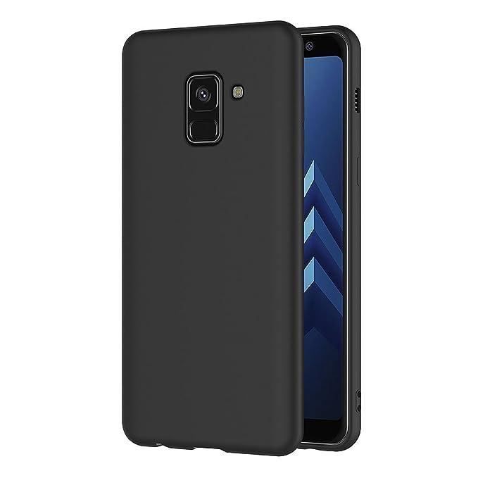 8 opinioni per AICEK Cover per Samsung Galaxy A8 2018, Cover Samsung A8 2018 Nero Silicone Case