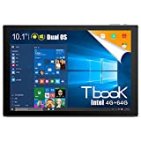 2 in 1 Android Tablet PC,Teclast Tbook 10 2 in 1 Tablet PC 10.1 inch Windows 10 + Android 5.1 IPS Screen 4GB RAM 64GB ROM Bluetooth 4.0(Keyboard not Include)
