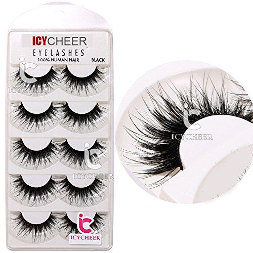 5 Pair Ultra Long Beauty False Eye Lashes Set 100% Handmade Soft Eyelashes (Eyelash Set)