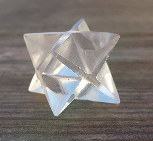 [A&S Crystals] GEMSTONE MERKABA STAR Natural Clear Quartz (One)