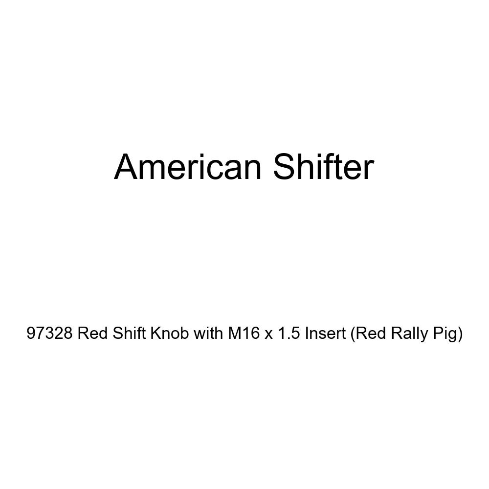 Red Rally Pig American Shifter 97328 Red Shift Knob with M16 x 1.5 Insert