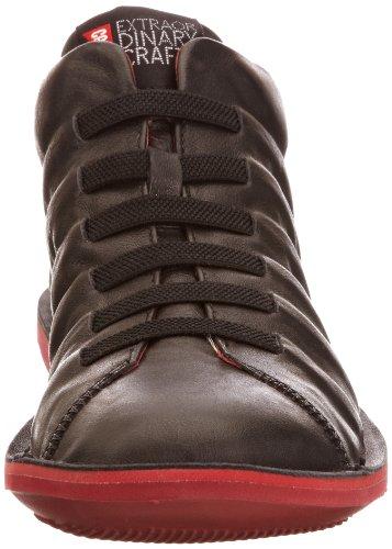 Camper 36678 36678-003 - Zapatillas de cuero nobuck para hombre Muffler Negro/Human Rojo/Rojo