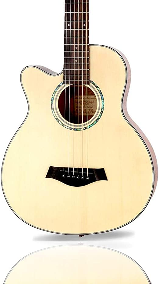 Guitarra Acústica Corte Guitarra Clásica Cuerda De Acero Zurdo ...