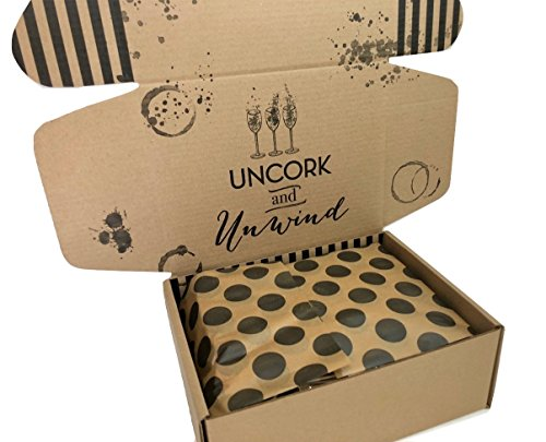 Wine Lovers Perfect Gift Basket Box with Bring Me Some Wine Socks and more by Hey, Its Your Day Gift Box Co (Image #1)