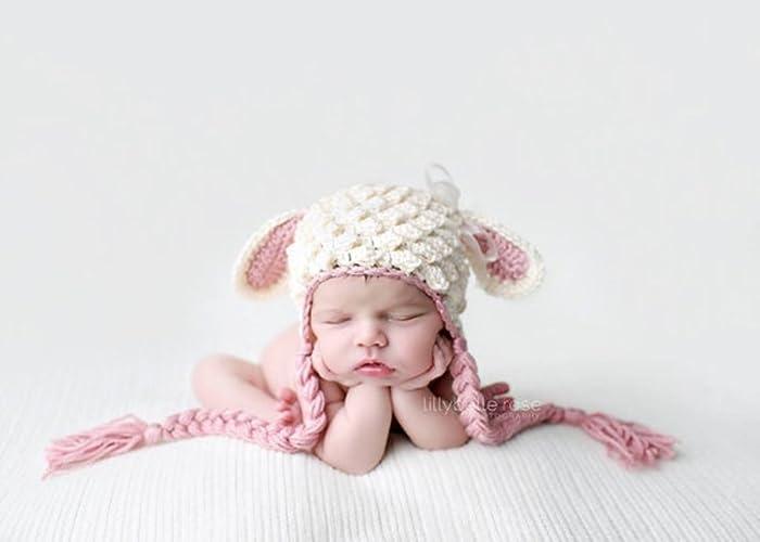 Amazon.com  Crochet Lamb Hat fdb764098cf