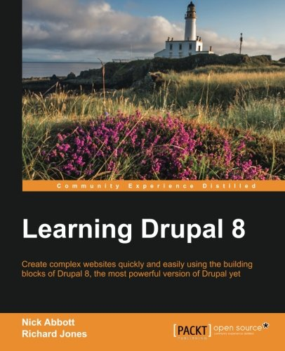 Book cover from Learning Drupal 8 by Nick Abbott