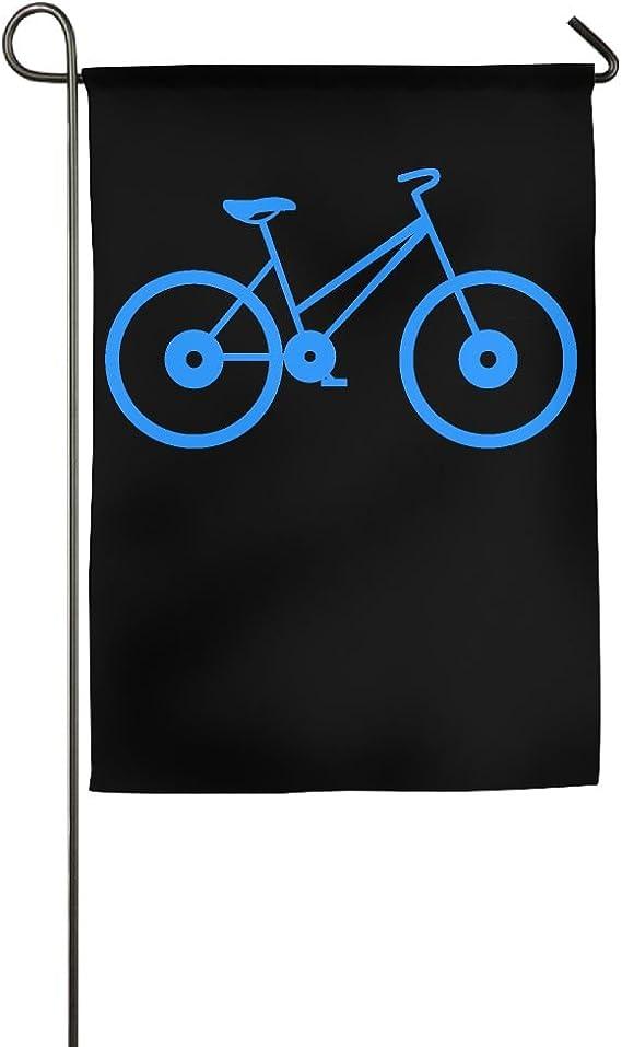 YUHO-MY Bandera Decorativa de Jardín con Siluetas para Bicicleta ...