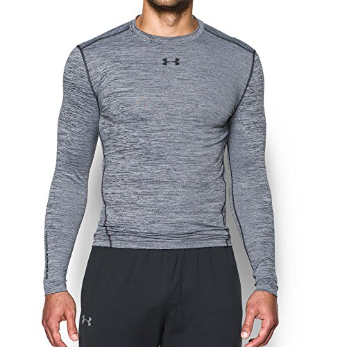 Under Armour Men's ColdGear Armour Twist Compression Crew, White/Black, Small by Under Armour (Image #4)