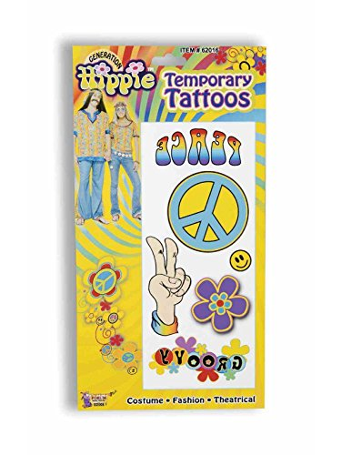 Forum Novelties Party Supplies Unisex-Adults Hippie Tattoos 6