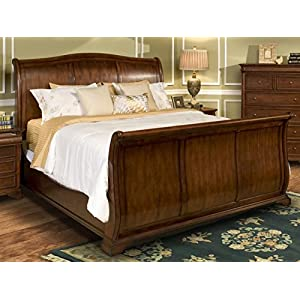 NCF Furniture Wales Traditional Sleigh Bed in Tobacco