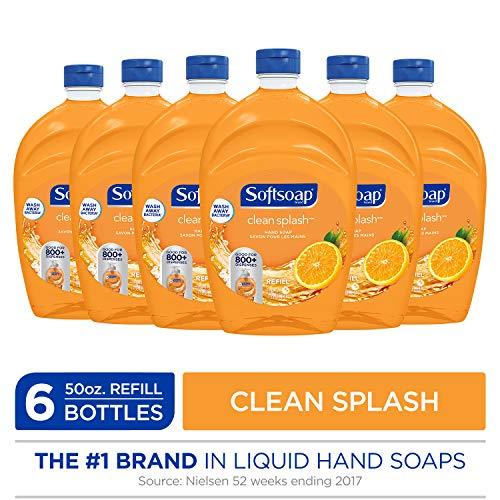 SOFTSOAP Liquid Hand Soap Refill, Clean Splash, 50 Ounce Bottle, Bathroom Soap, Bulk Soap, Premium Scented Hand Soap