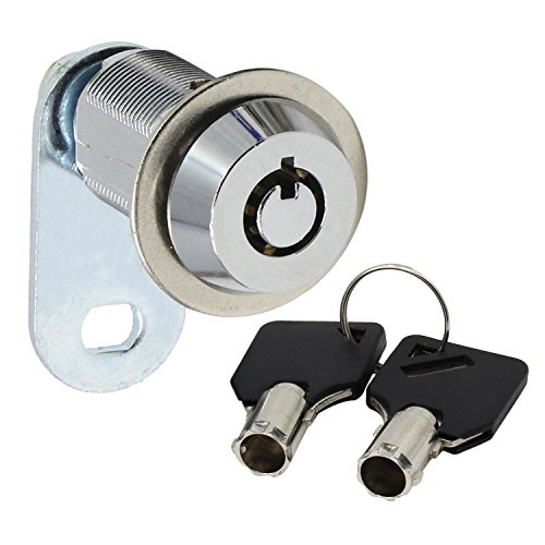 abcGoodefg Security Mailbox Lock Stainless Steel Cabinet Drawer Cupboard Cam Lock with Keys (30mm, Keyed Different)
