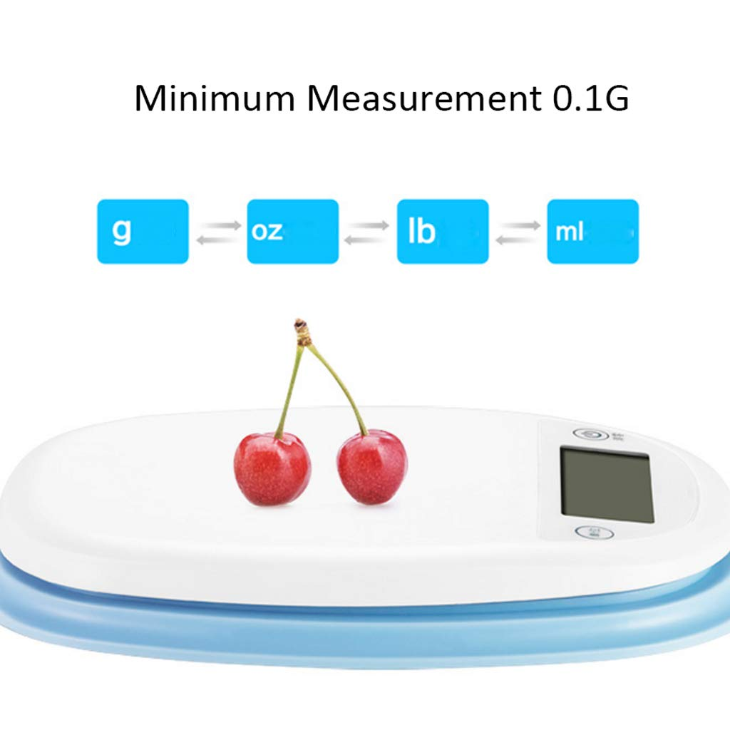 Báscula de Cocina doméstica pequeña para Hornear Llamada Escala electrónica de Alta precisión para Hornear electrónica Báscula de Cocina electrónica Blanca ...