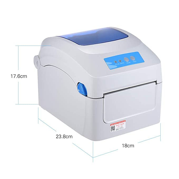 QWERTOUY Impresora térmica 1D 2D QR código de Barras ...