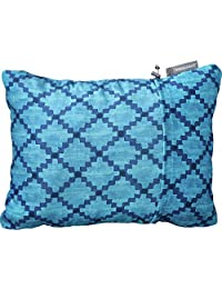 Therm-a-Rest Compressible Travel Pillow for Camping, Backpacking, Airplanes and Road Trips, Blue Heather, Small - 12 x 16 Inches