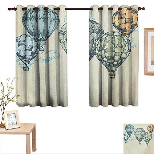 hot air balloon window curtains - 9
