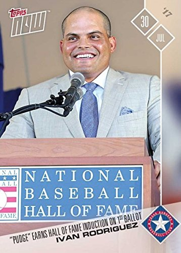 2017 Topps Now Baseball #415 Ivan Rodriguez Hall of Fame Induction Baseball Card - Only 574 made! (Ivan Pudge Rodriguez)