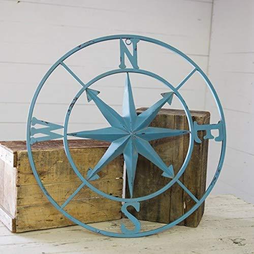 Amazon.com: PD Home & Garden Distressed Antique Aqua Blue ...