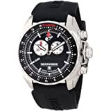 Wrist Armor Men's WA131 C3 Stainless Steel Analog Display Swiss Quartz Chronograph Watch with Black Silicone Strap