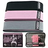 Arena Strength Booty Fabric Bands: Fabric Resistance Bands for Legs and Butt: 3 Pack Set. Perfect Workout Hip Band...