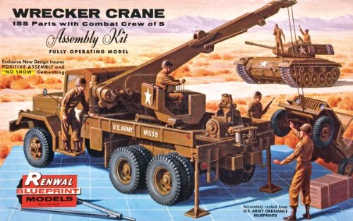 REVELL-MONOGRAM Military Wrecker Truck Plastic Model Kit,...