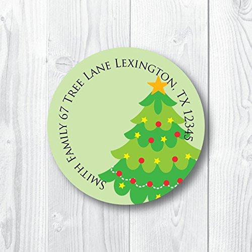 Address Labels Christmas Tree ()