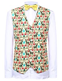 Hanayome Men's Waistcoat Garment Christmas Suits Jackets Vest Sleeveless Plus Size
