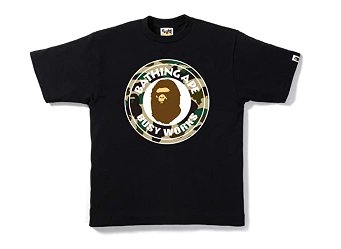 2e958085b Amazon.com  Bape by Bathing Ape Mens Camo Mens Tee Shirt Authentic  Clothing