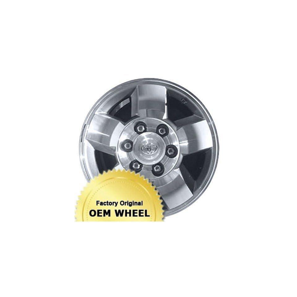 TOYOTA 4 RUNNER,FJ CRUISER 16X7 5 SPOKE Factory Oem Wheel Rim  MACHINED FACE GREY   Remanufactured