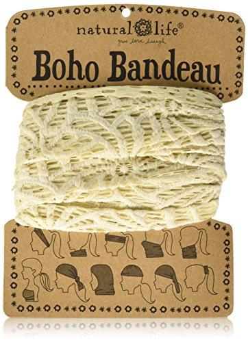 Crochet Headband (Natural Life Boho Bandeau Cream Crochet)