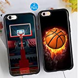 iPhone 6/6S Plus Couple Case Unique Fashion Basketball Matching Couple Phone Cases Ultra-Slim Soft TPU Bumper Protective Case for iPhone 6/6S Plus