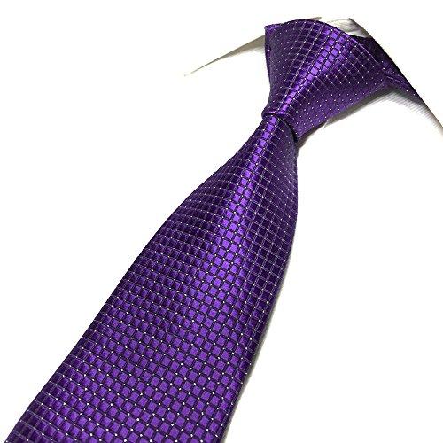 Mens Bright Violet Purple Silk Cravat Ties Woven Dance Formal Necktie Gift Ideal