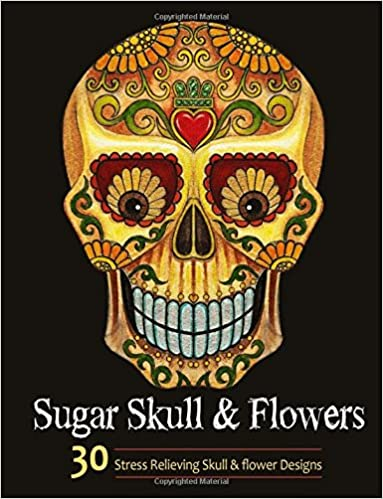 Amazon.com: Adult Coloring Books: Sugar Skull and Flower : Coloring ...
