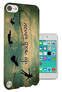 579 - Out Of This World Space Galaxy never grow up Cartoon Design Apple ipod Touch 6 Fashion Trend CASE Gel Rubber Silicone All Edges Protection Case Cover