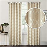 "Royhom Multi Size 72"" W x 63"" L Morden Curtain/Solid Curtain/Beige Curtain/Textured/Grommet Top/One"